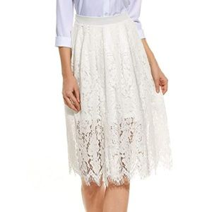 ANGVNS White Lace Skirt BNWT sz M